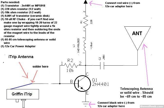 here it is the long awaited itrip rf amplifier ilounge forums rh forums ilounge com Griffin iTrip Auto griffin itrip fm transmitter wiring diagram
